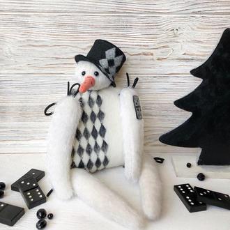 Новорічна інтер'єрна іграшка Сніговик