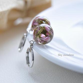 Сережки с вереском