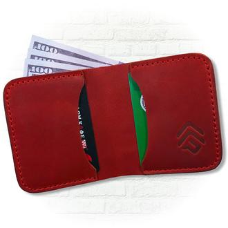 Классический кошелёк красного цвета