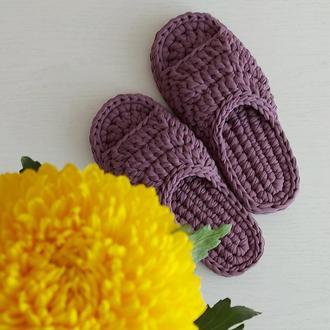 Домашние тапочки, цвет Лиловый визон