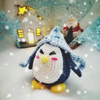 Вязаный Пингвин 8 см
