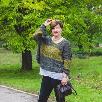 Пуловер из хлопка с пайетками оверсайз′ Berlin  ′.