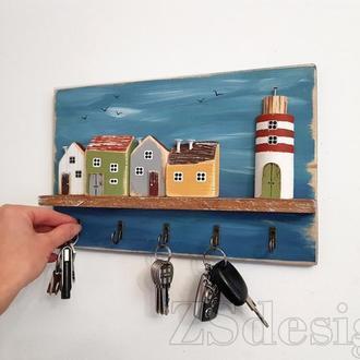 """Ключница для дома """"Голубой берег"""""""