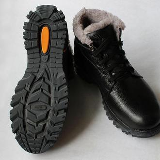 Зимові чоловічі черевики з натуральної шкіри