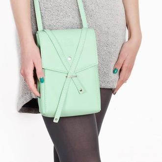 """Сумка через плечо """"Floria"""". Желтая сумочка, сиреневая сумочка, ментоловая сумочка, оранжевая сумочка"""
