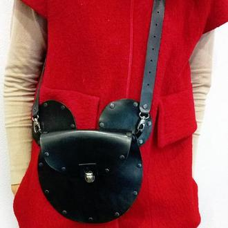 Кожаная сумка Маус от мастерской Wild