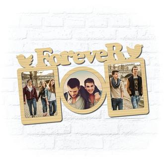 "Деревянная рамка для фото ""Forever"""