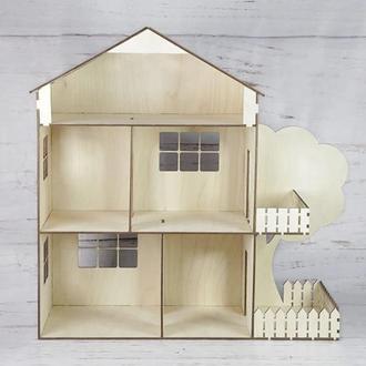 Кукольный домик дом из фанеры из дерева
