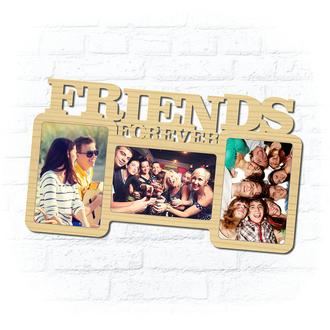 "Деревянная рамка для фото ""Friends forever"""