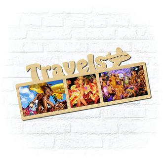 "Деревянная рамка для фото ""Travels"""