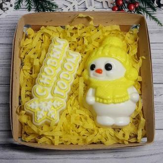 Набор мыла Снеговик и С Новым Годом.