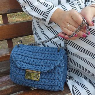 Маленькая сумочка на цепочке Petite, цвет Деним