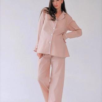 Пижама для беременных из 100% хлопка (рубашка и брюки)