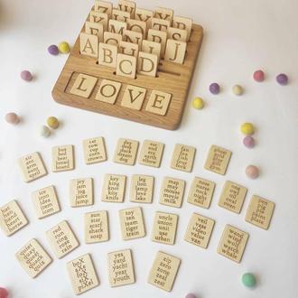 Развивающая игрушка для изучения английского алфавита двухсторонняя доска с карточками подарок детям