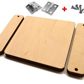 Заготівля для Бизиборда Дерев'яна Дверцята Товста 8 мм / 8 см + Петлі Шурупи, Дверцята