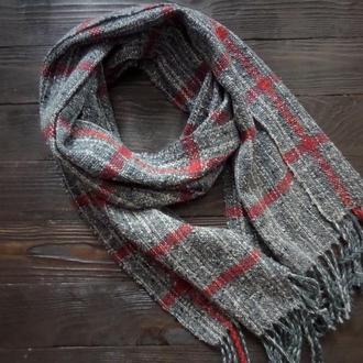 Тканый шарф Классика серого