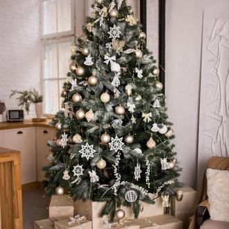 Новогодние украшения, Снежинка на елку, Новогодние изделия, Елочное украшение, Снежинки кружевные