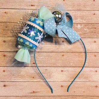 Голубая Конфетка, корона к карнавальному костюму, ободок Цукерки