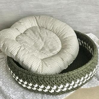Лежанка для кота собаки чихуахуа стильная лежанка