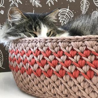 Лежанка для кота собаки кошки кролика шиншили домик кровать