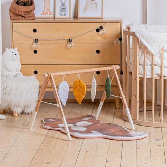 Развивающий комплекс: коврик и стойка с подвесками для развития малыша Fox