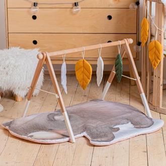 Развивающий комплекс: коврик и стойка с подвесками для развития малыша Bear