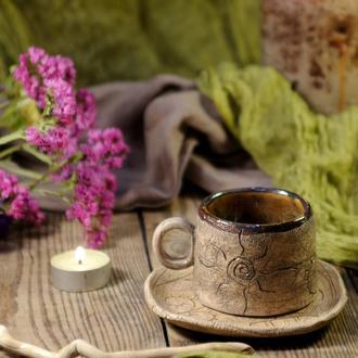 """Чайная пара """"Этно""""   Чашка с блюдцем"""
