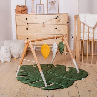 Развивающий комплекс: коврик и стойка с подвесками для развития малыша Tropical