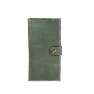 Портмоне кошелек из натуральной кожи зеленый