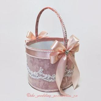 Свадебная корзинка для лепестков роз/конфет/монет