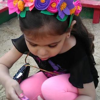 Детский ободок из фетра