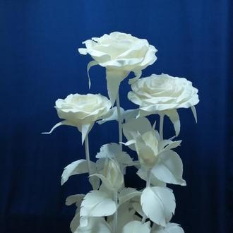 Светильник - Букет роз с бутонами (лампа - теплый свет)