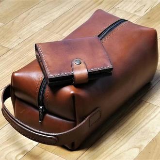 Чоловіча шкіряна сумка-барсетка