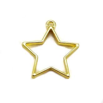 Рамка-основа для кулона Звезда, золото