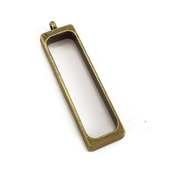 Рамка-основа для кулона Прямоугольник 40х12мм бронза