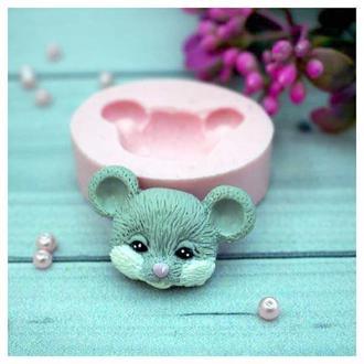 Молд силиконовый Мышка голова 2д