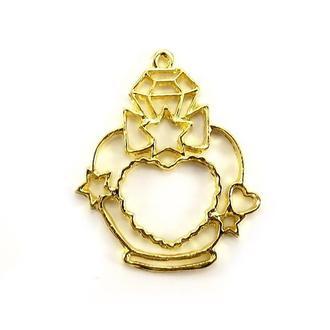 Рамка-основа для кулона с сердечком золото