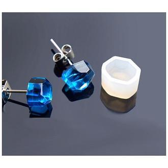 Молд силиконовый для серег Кристалл 2 шт.