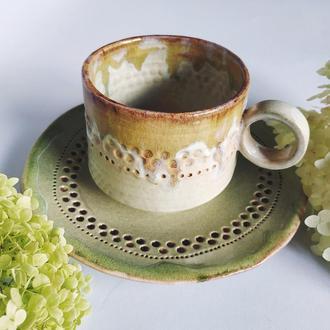 Чашка с блюдцем  500мл