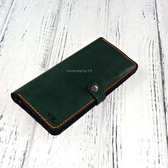 Женское портмоне ручной работы Long Wallet Green KR