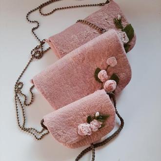 Валяне сумка з вовни
