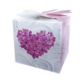 Бонбоньерки с цветочным сердцем (арт. B-118)