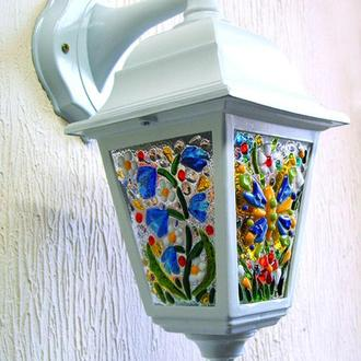 Светильник настенный, фьюзинг, стекло
