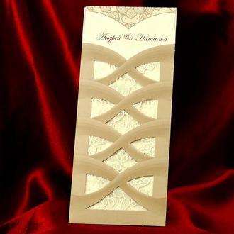 Элегантные пригласительные на свадьбу (арт. 420)