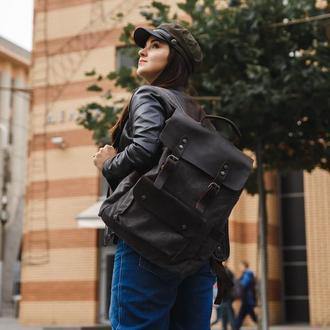 Стильный классический рюкзак. Премиальный портфель с отделением для ноутбука / Macbook. Унисекс.