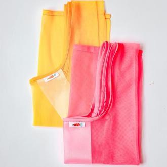 Две Сетки маечки для покупок, желтая сумка - замена пакетам, очень прочные Киев