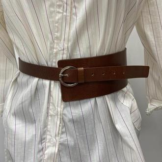 Модный поясной ремень из плотной итальянской кожи