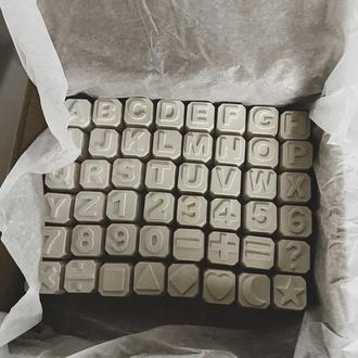 Набор «английский алфавит» из гипса для раскрашивания и изучения