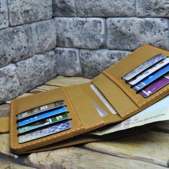 Вертикальный кошелек из кожи D10-180+orange