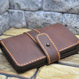 Красивый мужской кошелек K62-210+450+orange